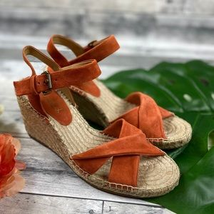 Splendid Fairfax coral suede sandals shoes